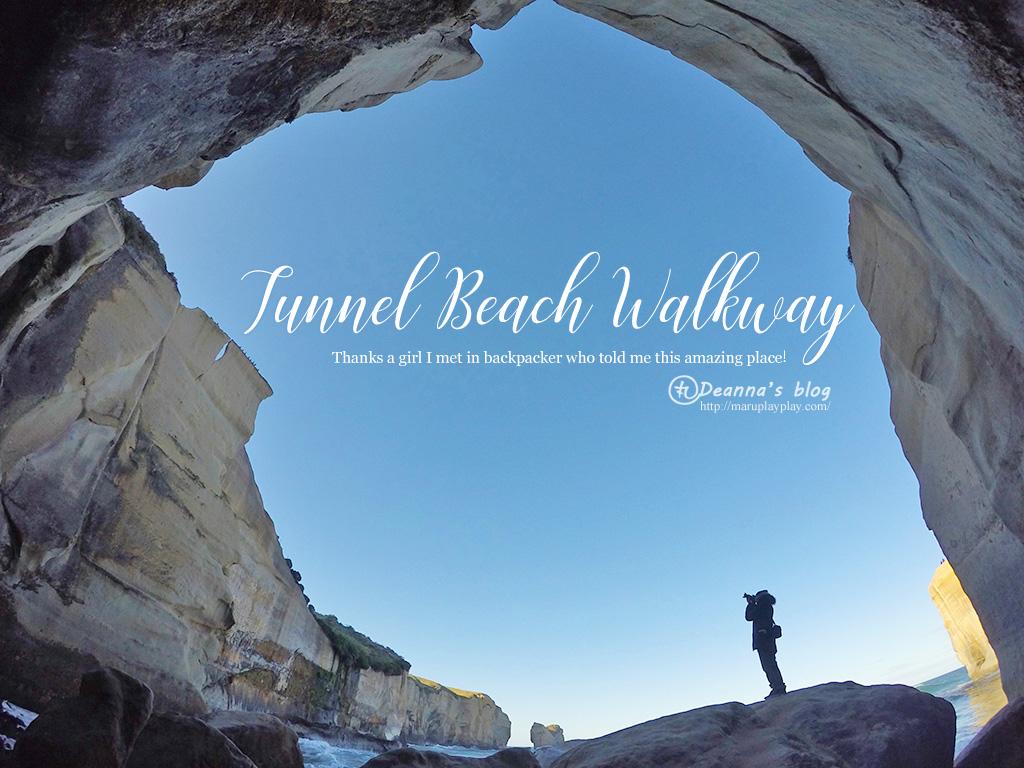 紐西蘭南島景點 ‧ Tunnel beach 鮮為人知的壯麗海灣