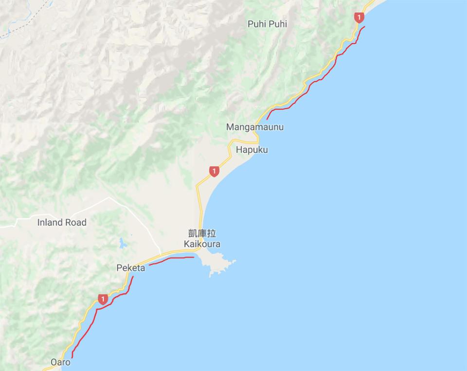凱庫拉地圖